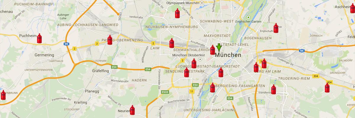 Flaschengas Partner Deutschlandweit Suchen